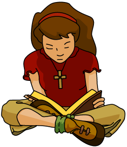 Man Reading Bible Clipart.