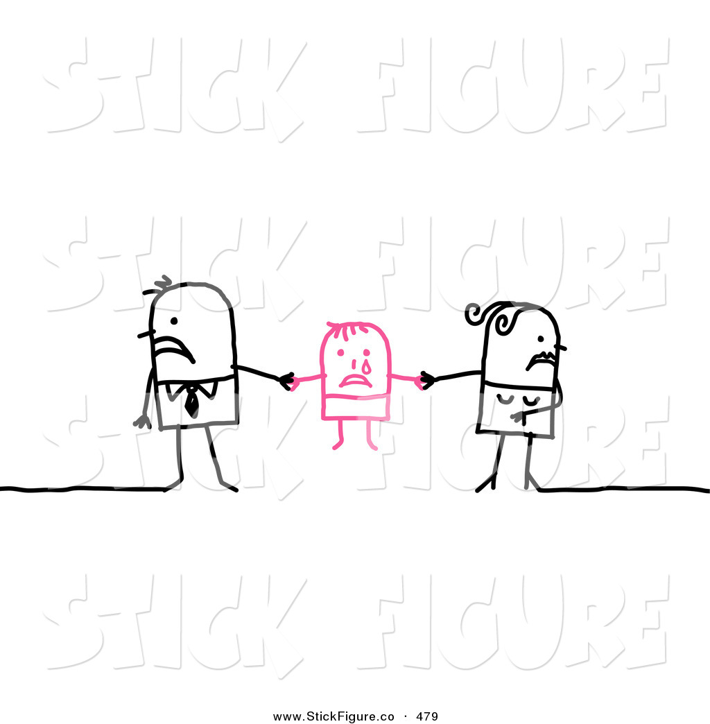Clip Art of a Stick Figure People Character Couple Playing Tug of.