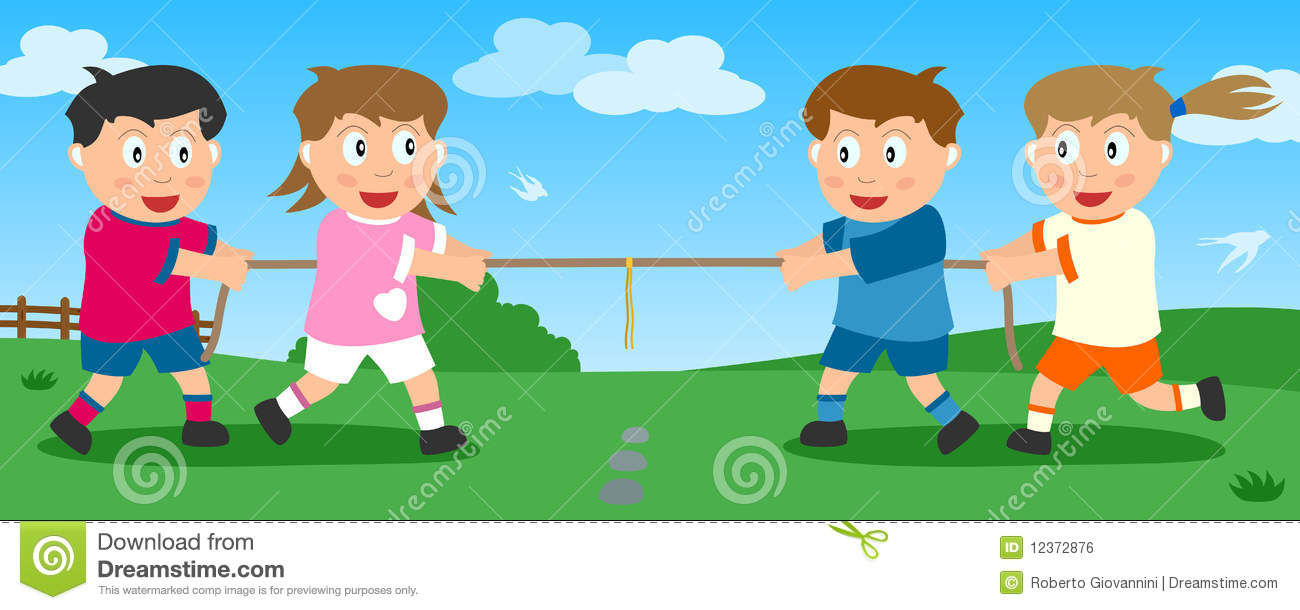 Tug Of War In The Park Royalty Free Stock Image.