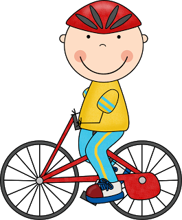 Child Riding Bicycle Clipart.