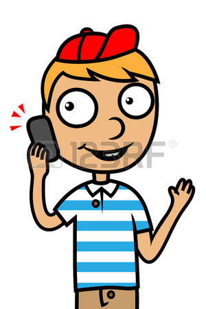 4,381 Boy At Phone Cliparts, Stock Vector And Royalty Free Boy At.