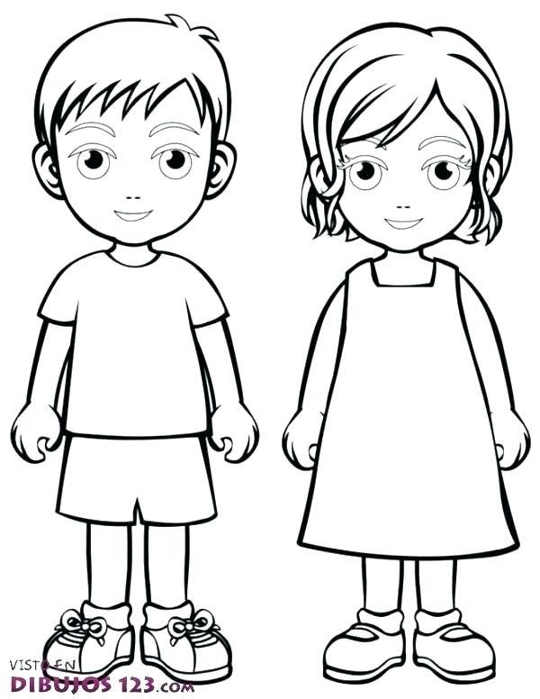 Child Outline Free Download Clip Art.