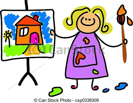 Child painting clipart 1 » Clipart Portal.
