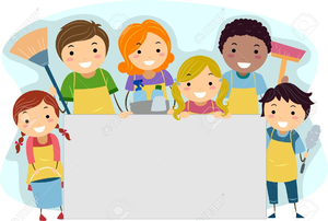Children Cleaning Up Toys Clipart.