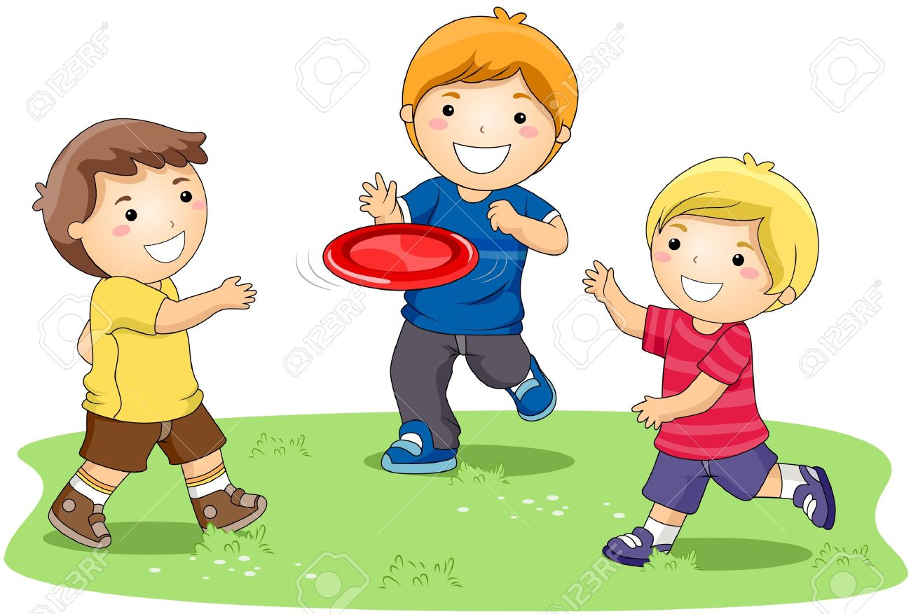 Kids at play clipart.