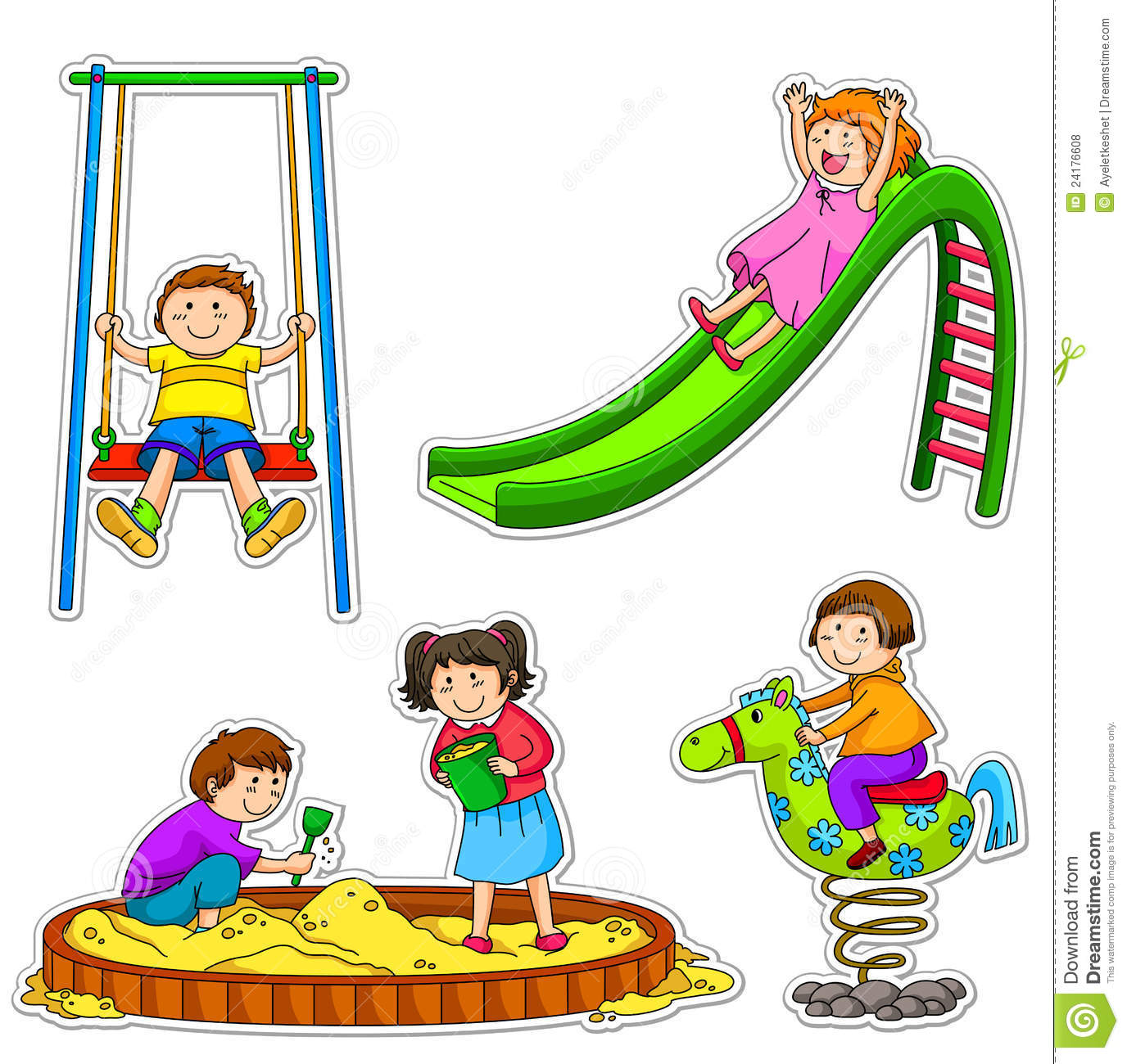 playing outside clipart - Images Of Children Playing At School