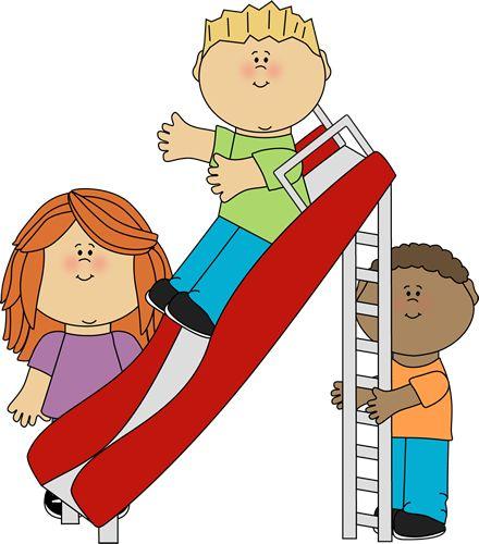 children at play clip art.