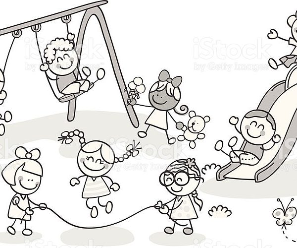 Child playing clipart black and white 2 » Clipart Station.