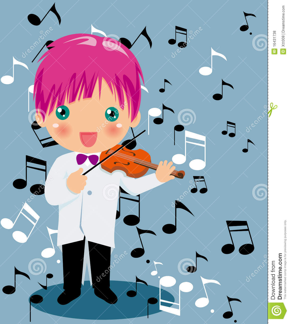 Playing Violin Boy Royalty Free Stock Photos.