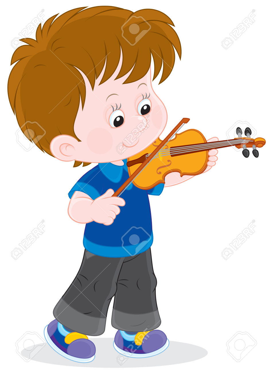 Boy Playing His Small Violin Royalty Free Cliparts, Vectors, And.
