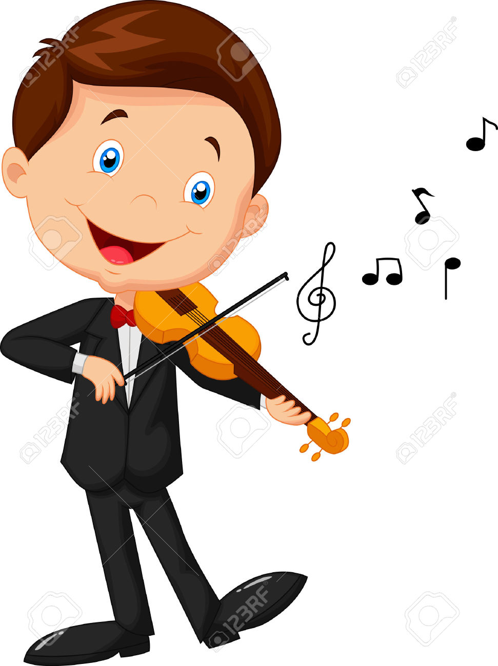 Little Boy Playing Violin Royalty Free Cliparts, Vectors, And.