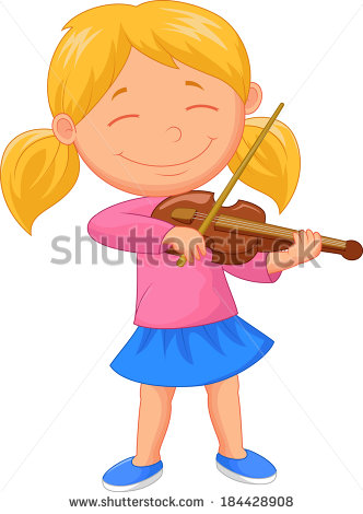 Kid Violin Stock Images, Royalty.