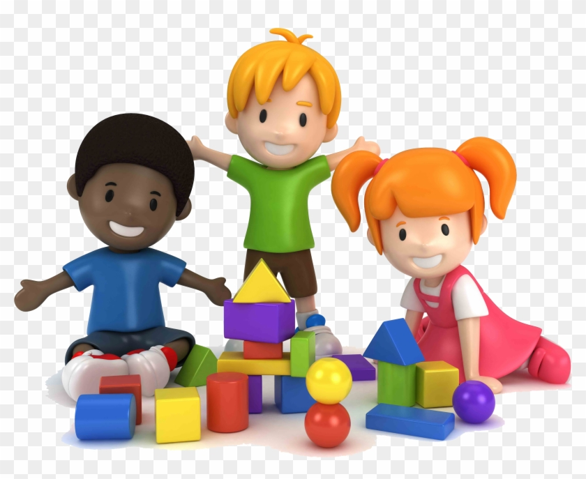 Children Playing With Blocks Clipart, HD Png Download.