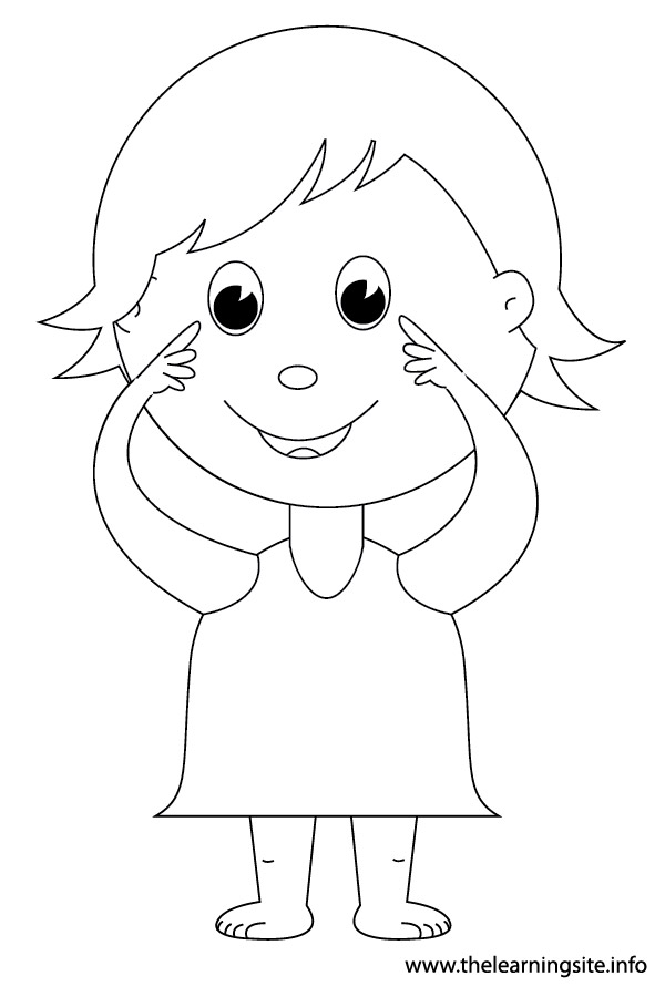 Child Pointing To The Eyes Clipart Clipground