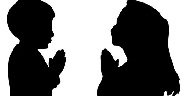 Child Praying Silhouette.