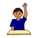 Raise Your Hand Clipart.