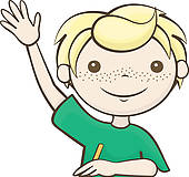 Kid Raising Hand Clip Art.