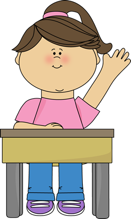 Clipart Child Raising Hand.