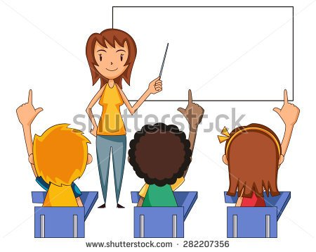 Clipart Of Child Raising Hand.
