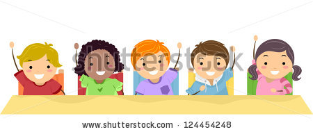Classroom Hands Up Stock Vectors, Images & Vector Art.