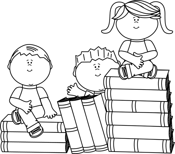 Child reading clipart black and white 2 » Clipart Station.