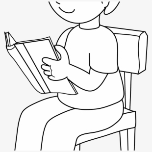 Png Black And White Download Woman Reading Big Image.
