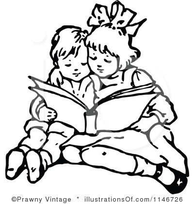 Children Clipart Black And White.