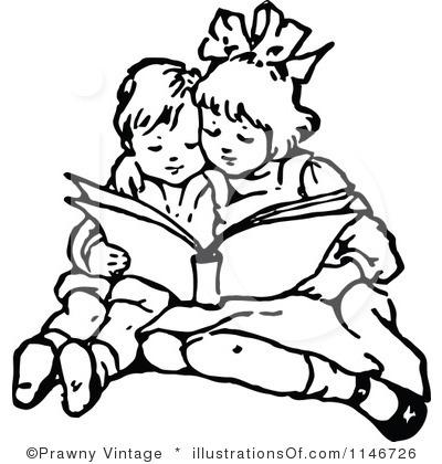 Children Clipart Black And White.