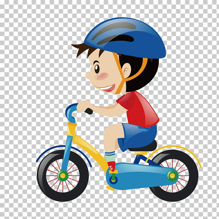Bicycle Cartoon Cycling Stock photography, Cute cartoon.