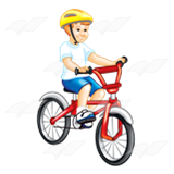 Boy Riding Bike.