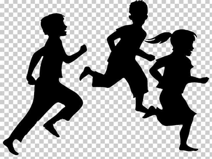 Child Silhouette Running PNG, Clipart, Black And White.