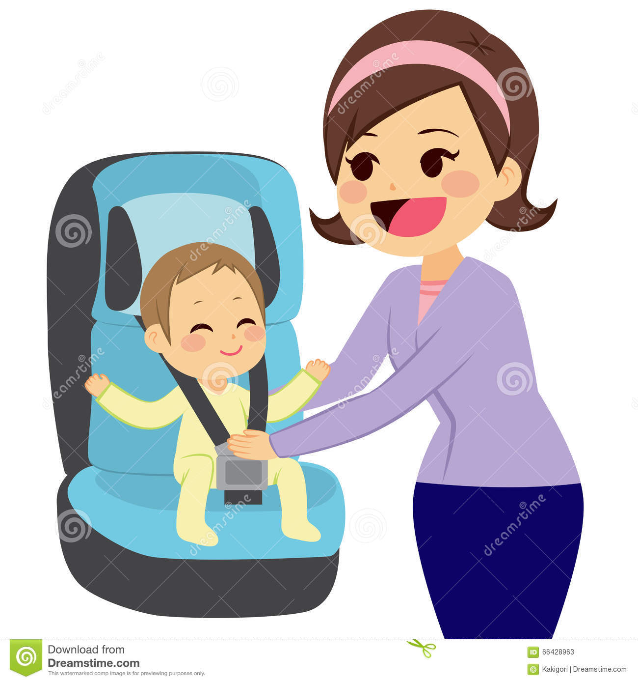 Car seat safety clipart.