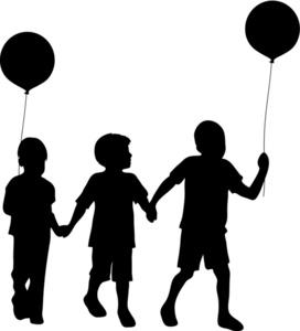Free Silhouette Children Clip Art Image: Clip Art Silhouette Of A.
