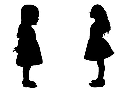 Kid Silhouette Vectors Free Download Girl Kid Silhouette.