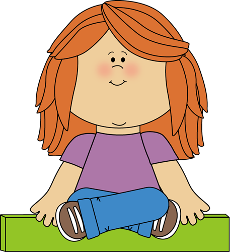 Child Sitting Cross Legged Clipart.