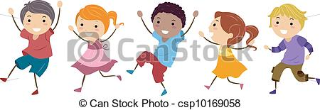 Images: Child Skipping Clipart.