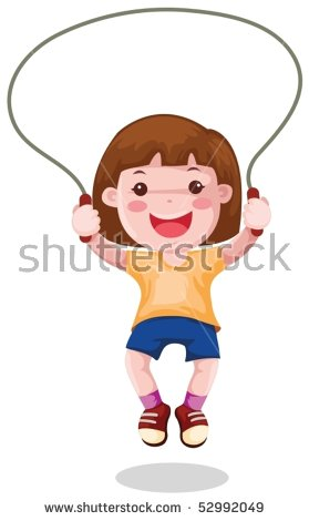 Child Skipping Stock Images, Royalty.