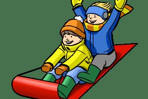 Child sledding clipart 1 » Clipart Portal.