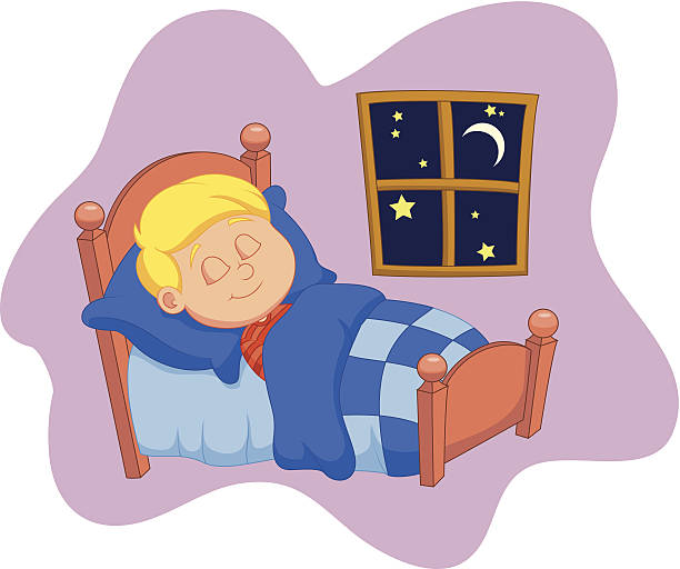 Child In Bed Clipart.