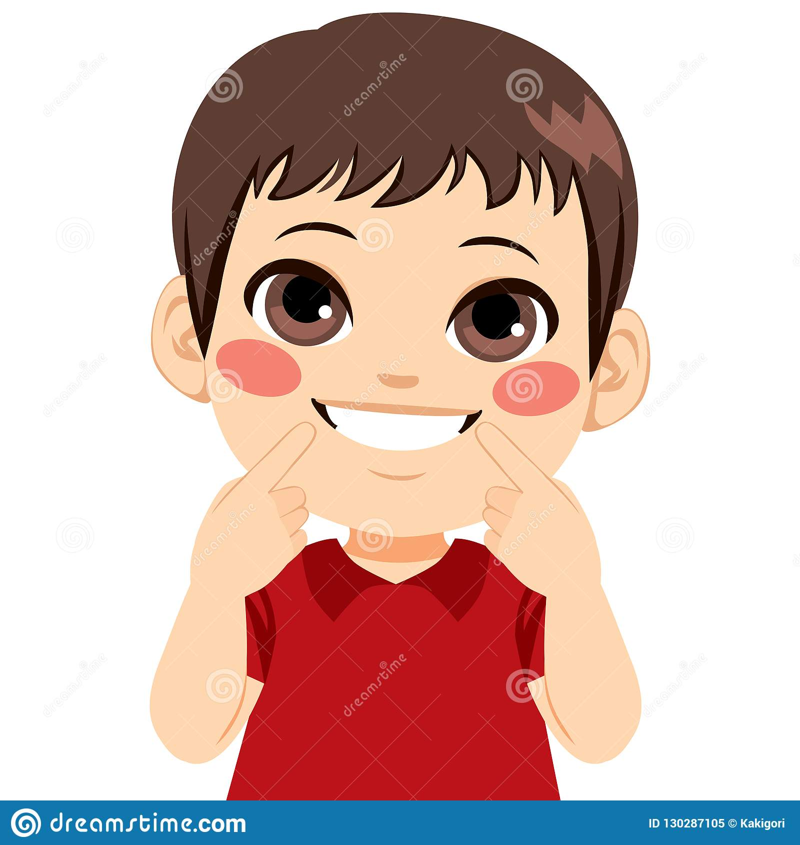 Boy Smiling Teeth stock vector. Illustration of beauty.