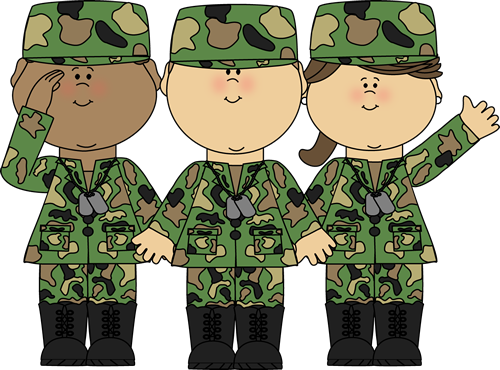 Kid soldier clipart.