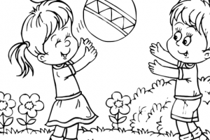Children playing clipart black and white » Clipart Station.