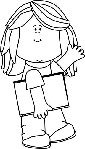 Child studying clipart black and white 3 » Clipart Portal.