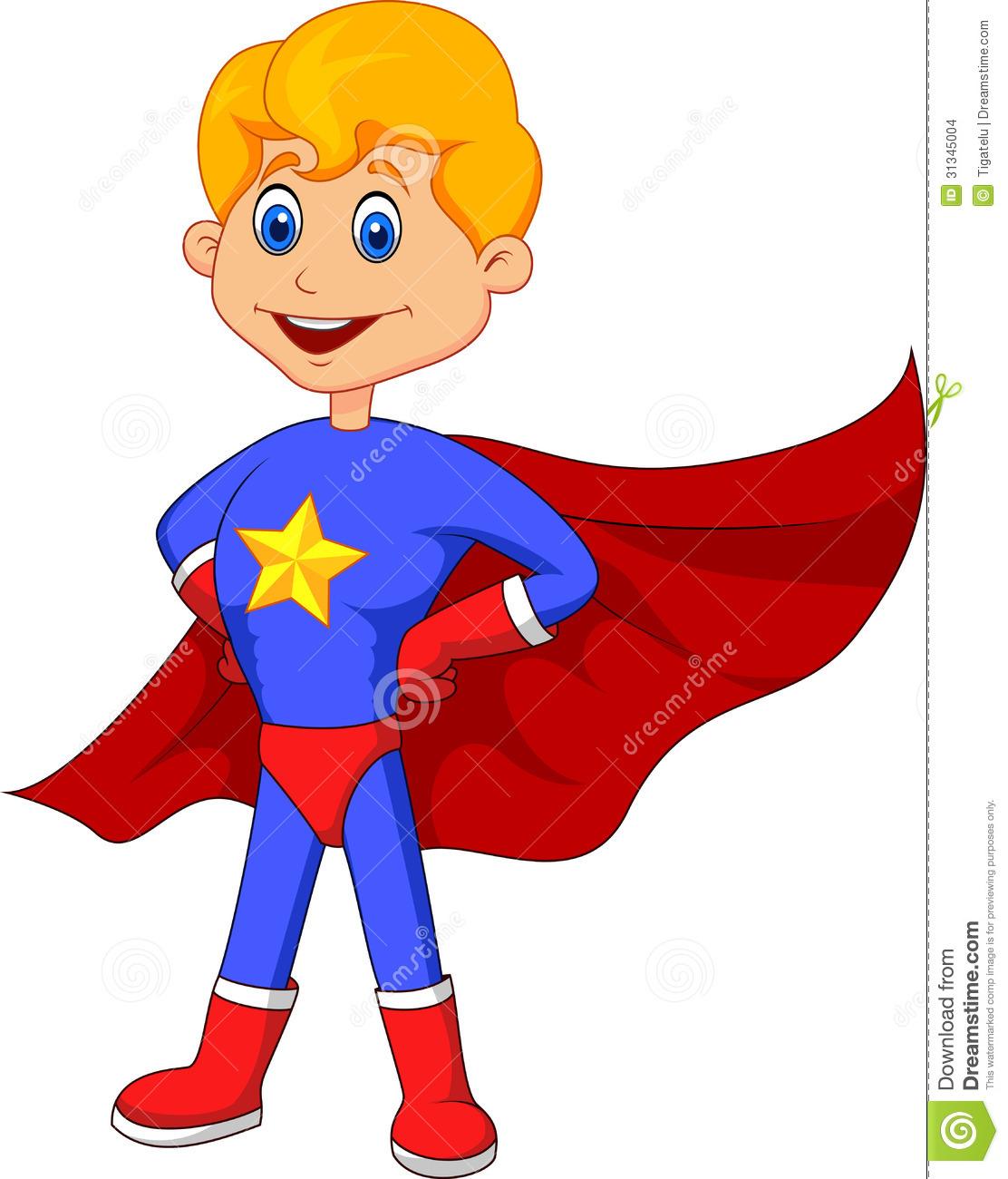 Kids Superhero Clipart.