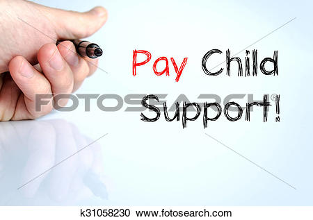 Stock Illustrations of Pay child support text concept k31058230.