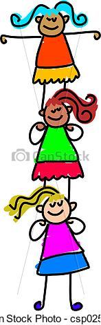 Clip Art of child support.