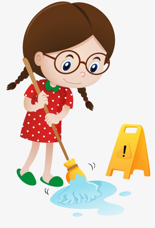 Floor Sweeper, Child, The Cartoon, Sweep The Floor PNG.