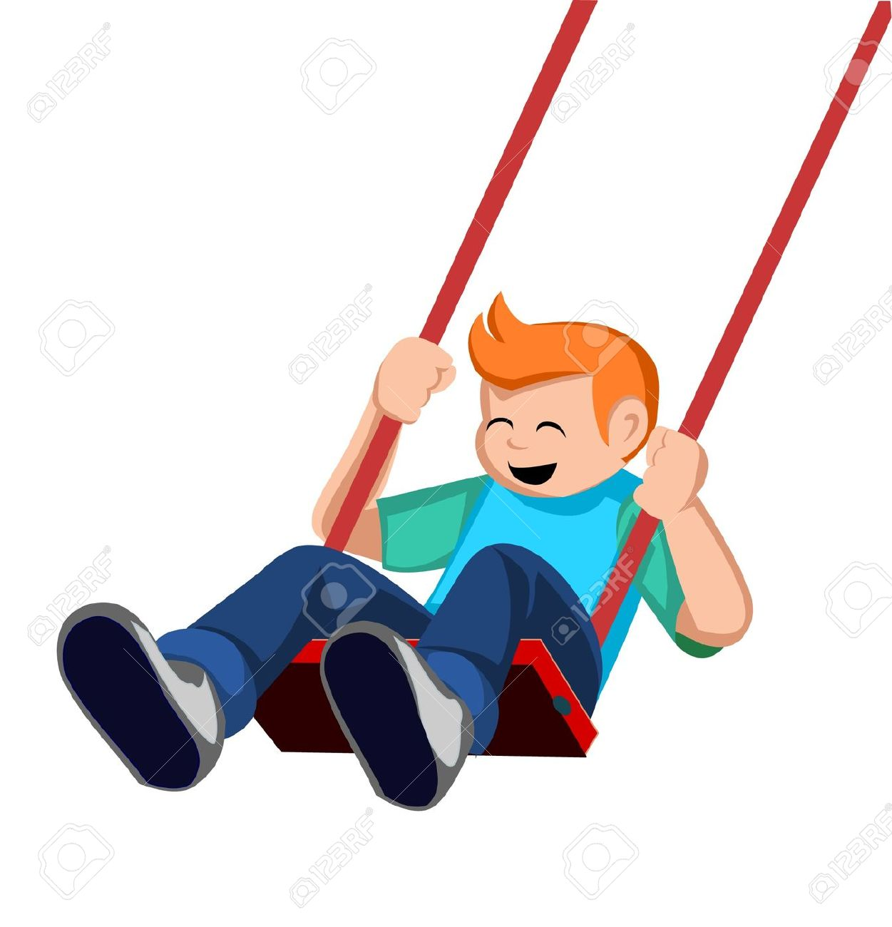 boys swinging pictures of Cartoon