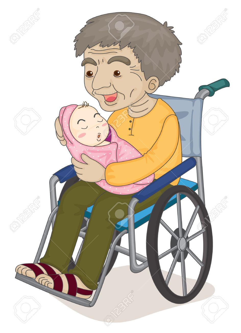 Child teen old man clipart clipground for Sedia a rotelle cartoon