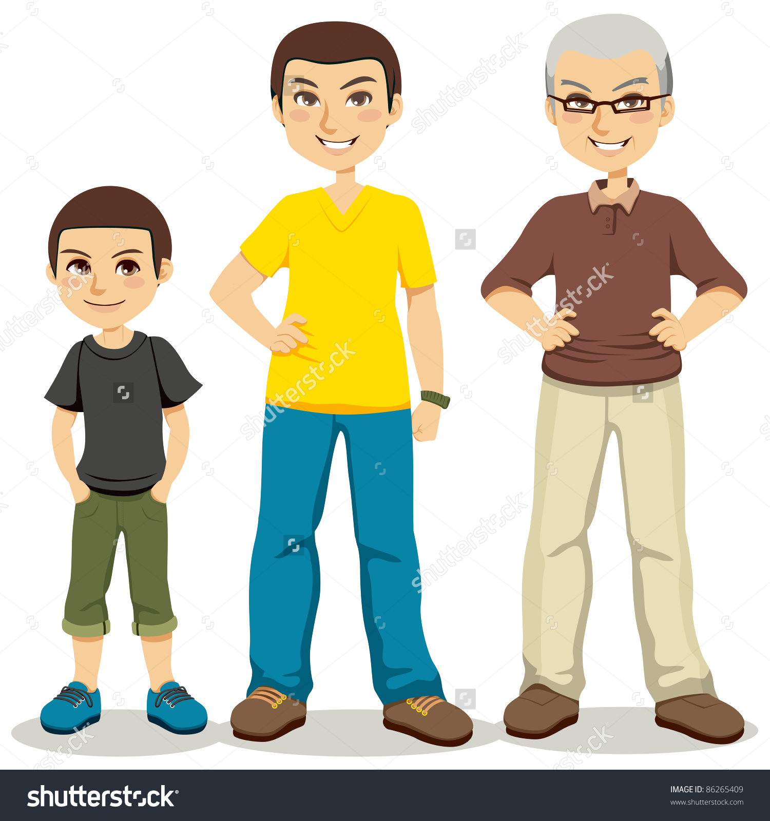 Child Teen Old Man Clipart Clipground